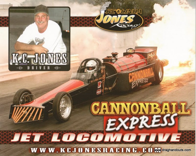 2011 NHRA Jet  Dragster Handout Cannonball Express
