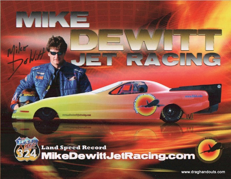 2011 NHRA Jet  Funny Car Handout Mike DeWitt
