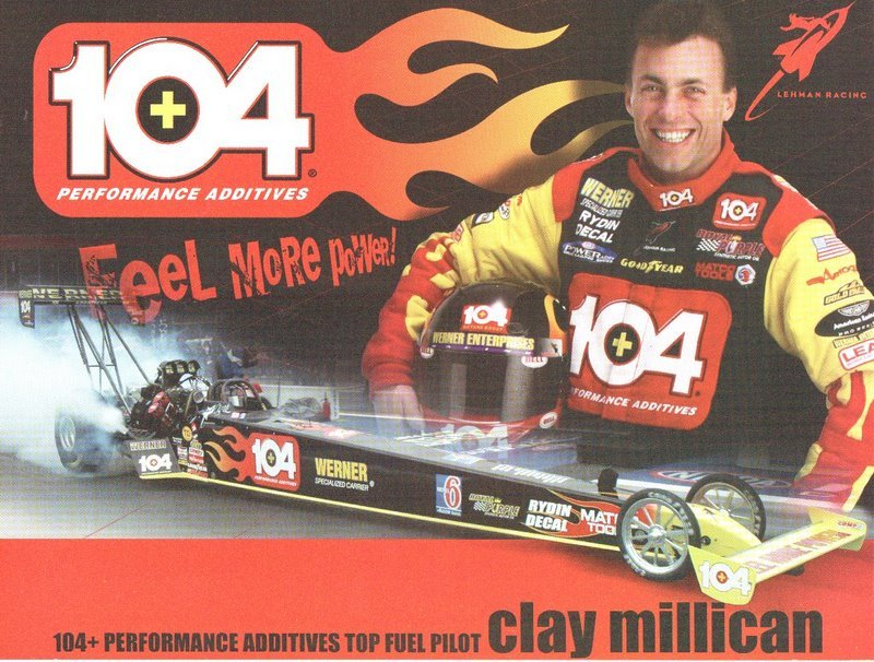 2005 NHRA TF Handout Clay Millican 104+ Octane