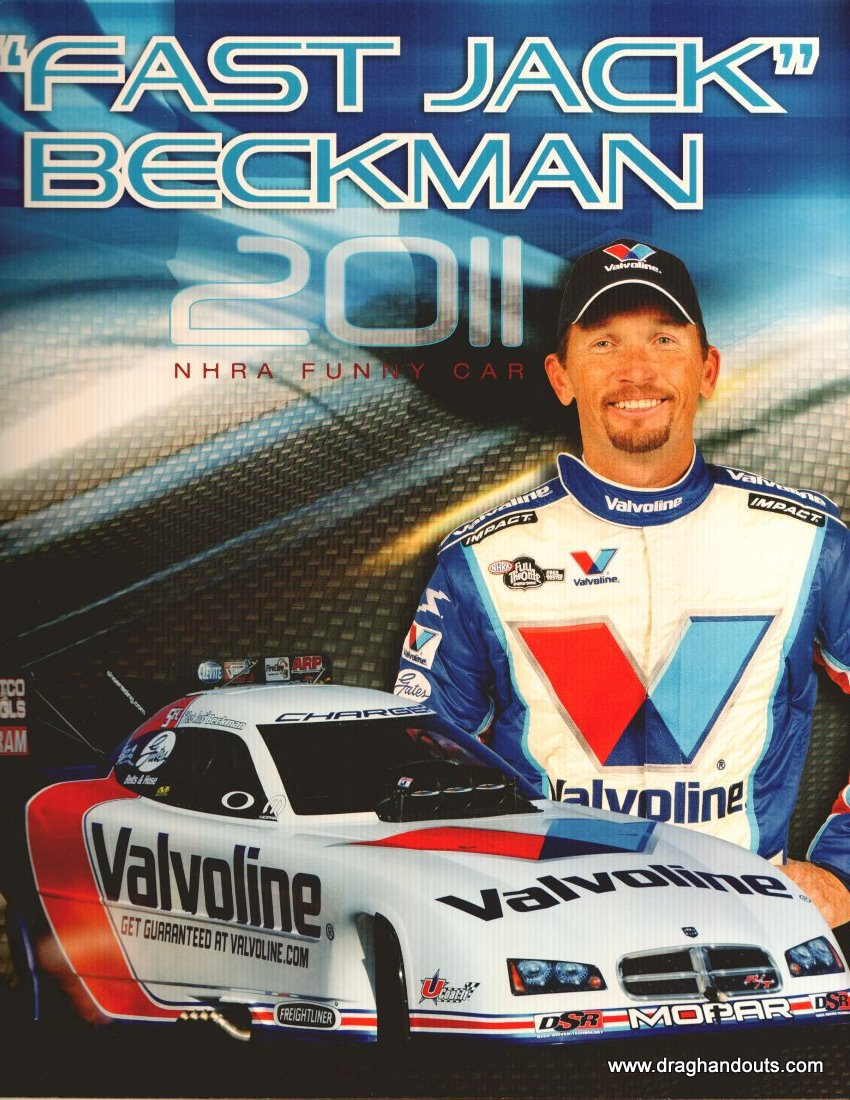 2011 NHRA FC Handout Jack Beckman (version #1) Valvoline