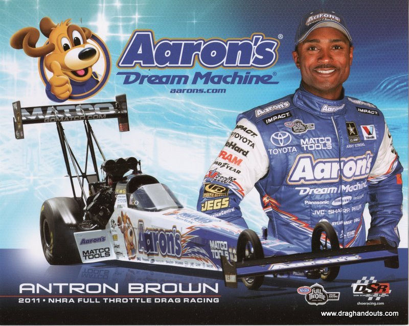 2011 NHRA TF Handout Antron Brown (version #2)