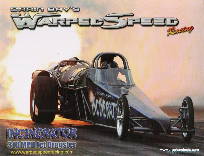2011 NHRA Jet  Dragster Handout Darin Ray