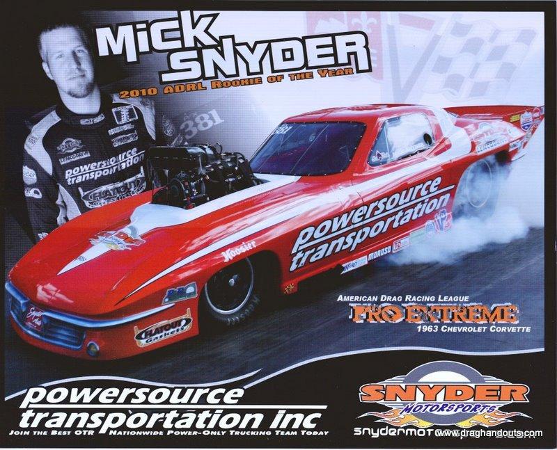 2011 NHRA PM Handout Mick Snyder
