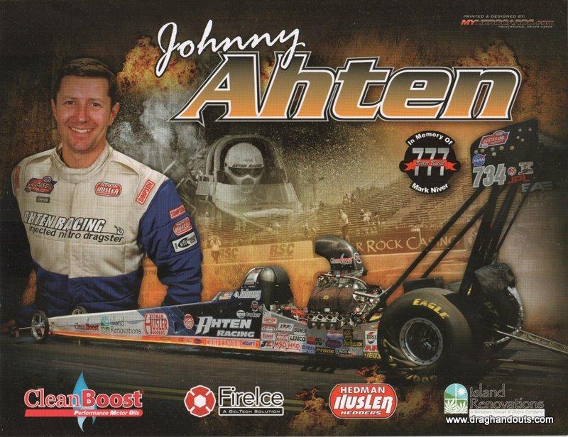 2011 NHRA TAD Handout Johnny Ahten