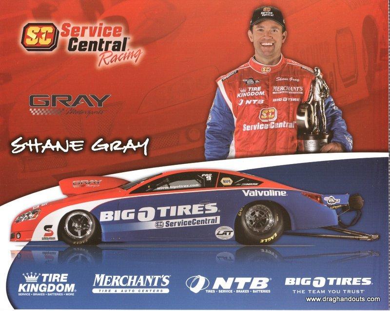 2012 NHRA PS Handout Shane Gray