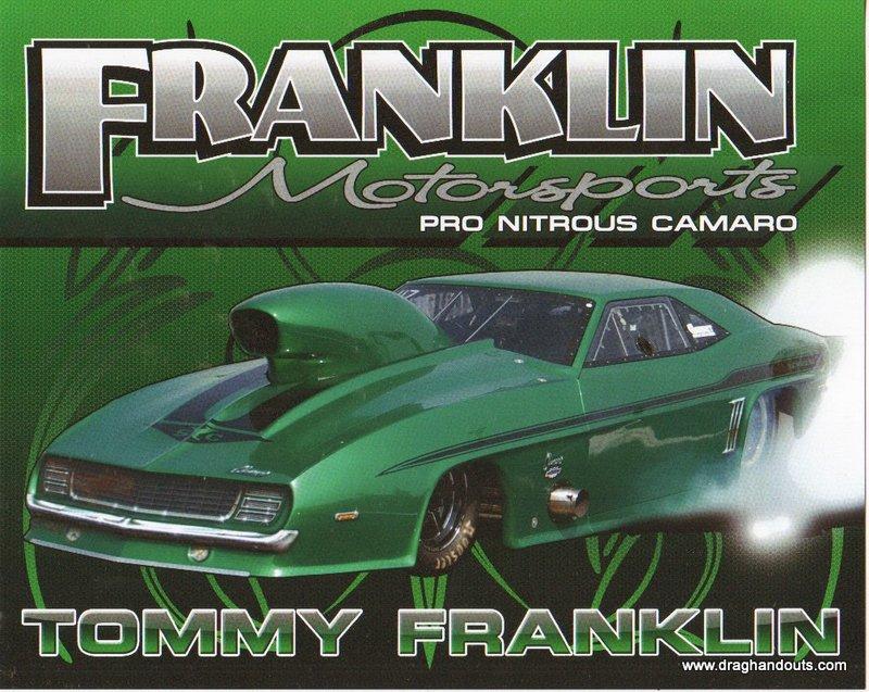 2012 NHRA PM Handout Tommy Franklin