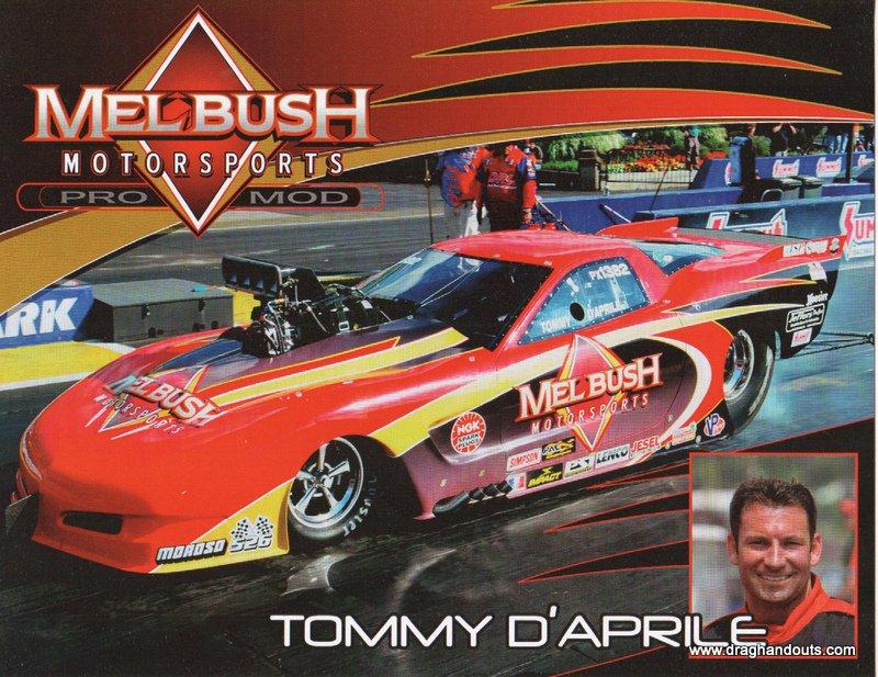 2012 NHRA PM Handout Tommy D'Aprile