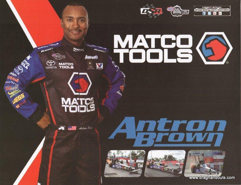 2012 NHRA TF Handout Antron Brown (Mac Tools)