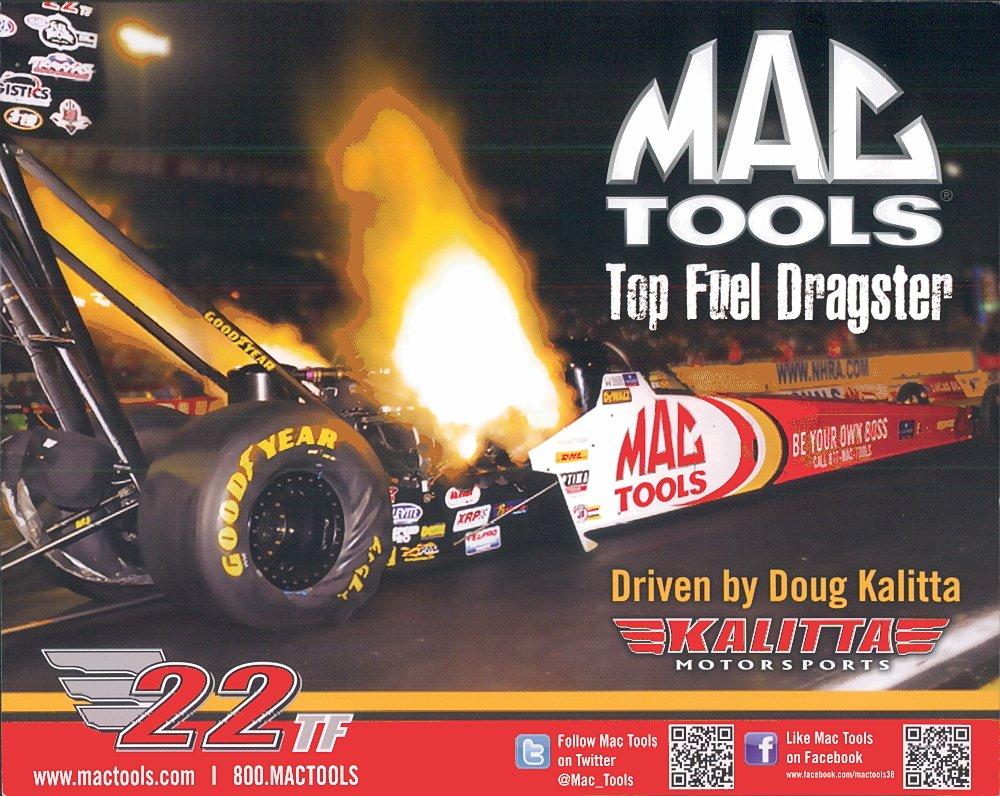 2012 NHRA TF Handout Doug Kalitta (Mac Tools #2)