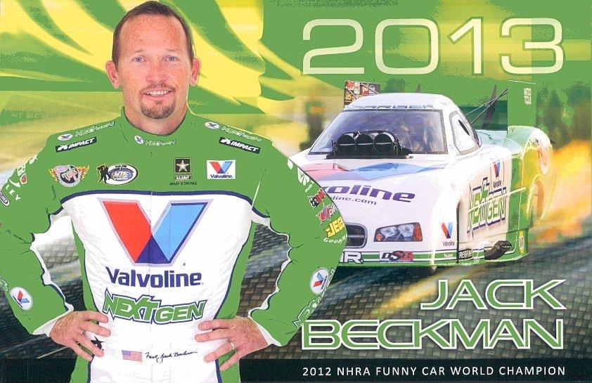 2013 NHRA FC Handout Jack Beckman