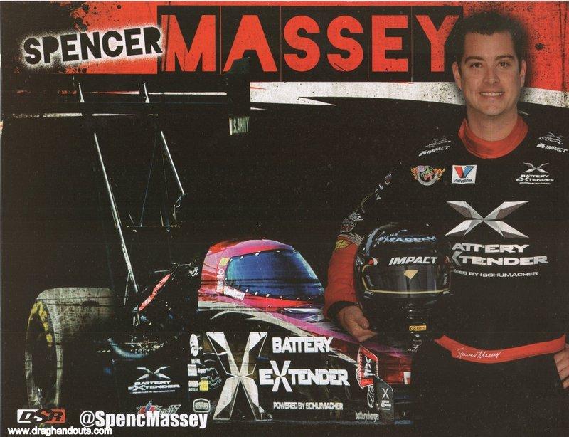 2013 NHRA TF Handout Spencer Massey