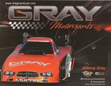 2013 NHRA FC Handout Johnny Gray (version #2)
