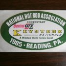 1985 NHRA Contestant Decal Reading