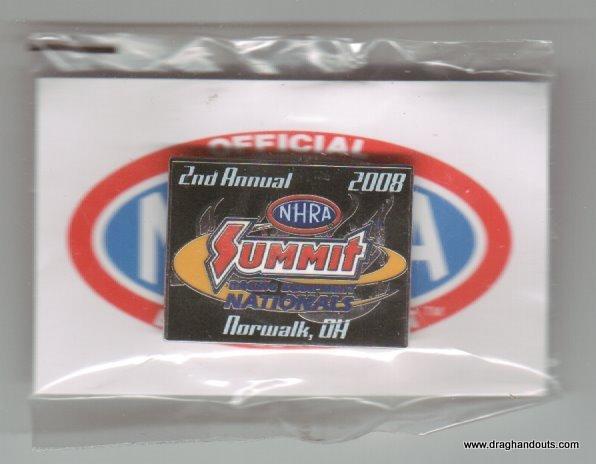 2008 NHRA Event Pin Norwalk