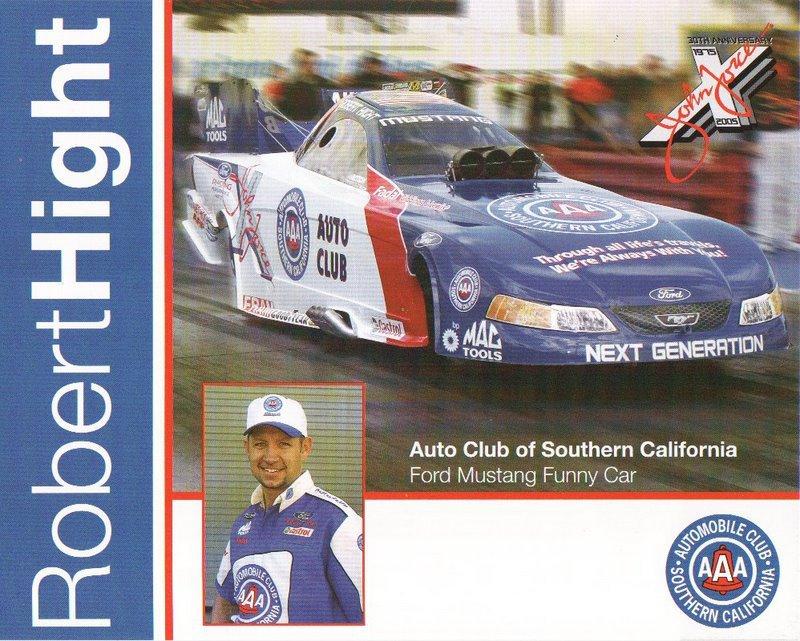 2005 NHRA FC Handout Robert Hight (version #1)