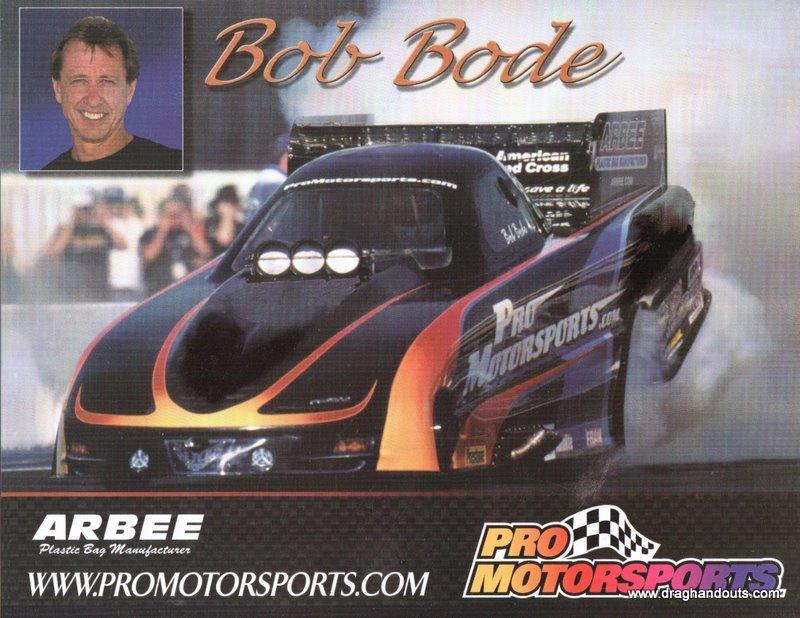 2005 NHRA FC Handout Bob Bode