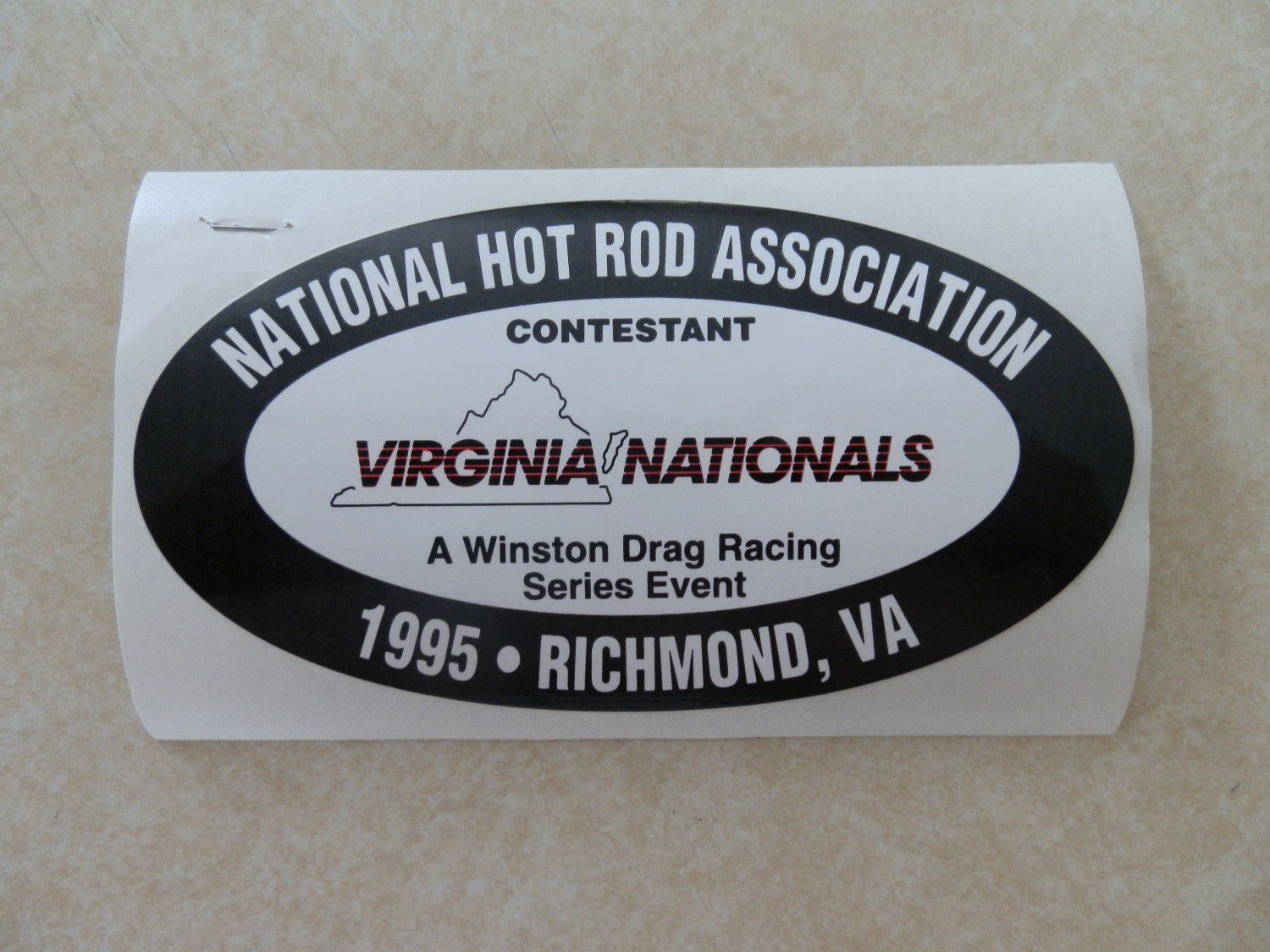 1995 NHRA Contestant Decal Richmond