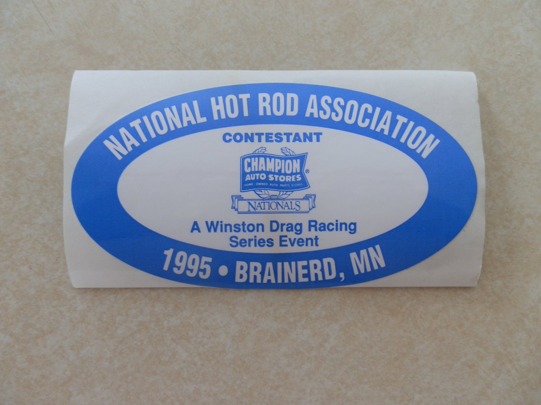 1995 NHRA Contestant Decal Brainerd