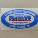 1995 NHRA Contestant Decal Reading