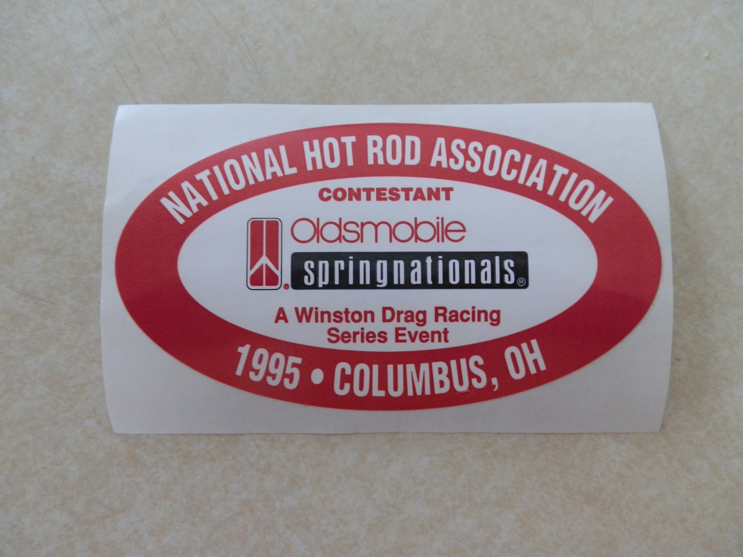 1995 NHRA Contestant Decal Columbus