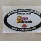 2001 NHRA Contestant Decal Brainerd