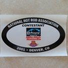 2001 NHRA Contestant Decal Denver