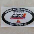 2001 NHRA Contestant Decal Topeka