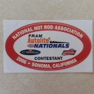 2006 NHRA Contestant Decal Sonoma