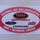 2006 NHRA Contestant Decal Richmond