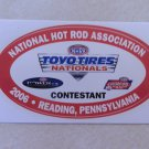 2006 NHRA Contestant Decal Reading