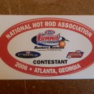 2006 NHRA Contestant Decal Atlanta