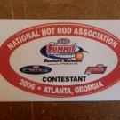 2006 NHRA Contestant Decal Atlanta