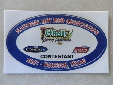 2007 NHRA Contestant Decal Houston