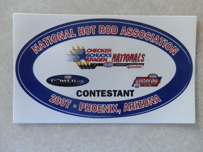 2007 NHRA Contestant Decal Phoenix