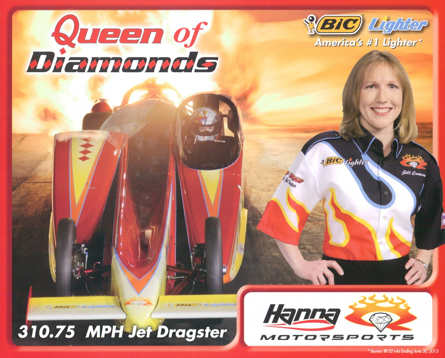 "2013 NHRA Jet Dragster Handout ""Queen of Hearts"""