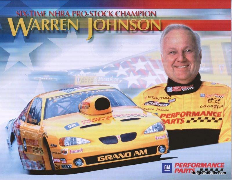 2004 NHRA PS Handout Warren Johnson