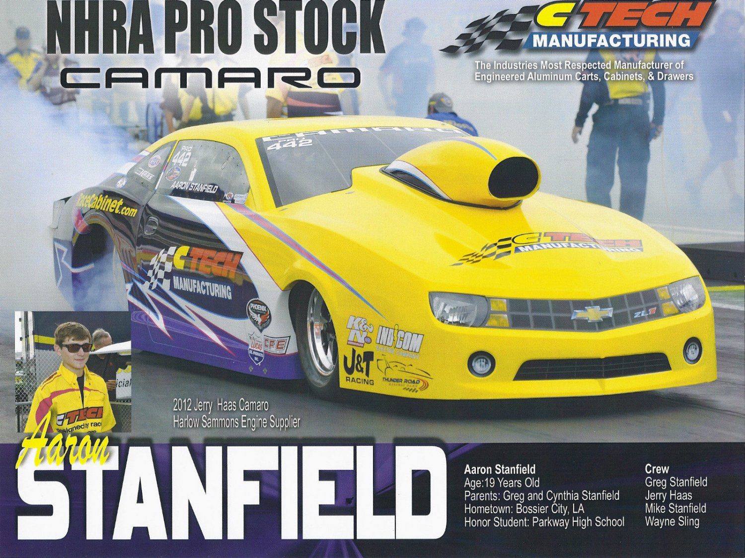 2014 NHRA PS Handout Aaron Stanfield