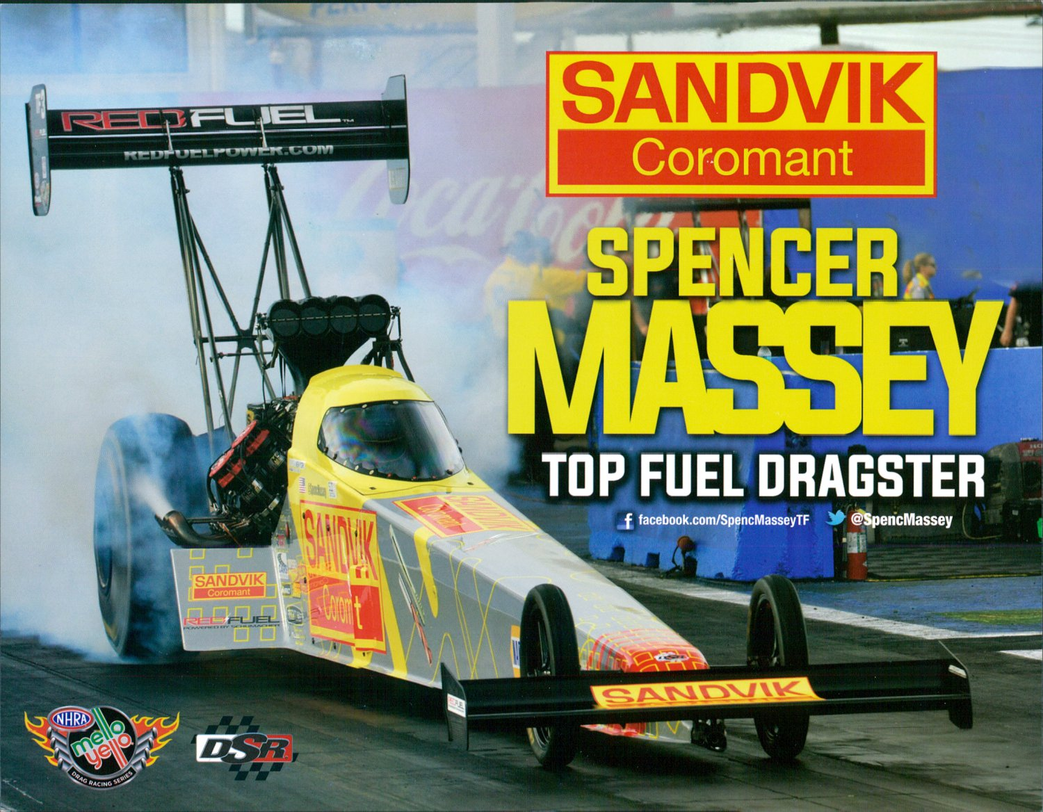 2015 NHRA TF Handout Spencer Massey (Sandvik #2)
