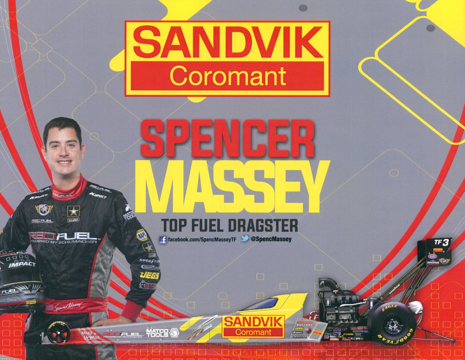 2015 NHRA TF Handout Spencer Massey (Sandvik #1)