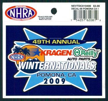2009 NHRA Event Decal Pomona Winternationals