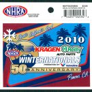 2010 NHRA Event Decal Pomona Winternationals