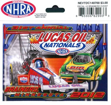 2012 NHRA Event Decal Brainerd