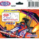 2012 NHRA Event Decal Dallas
