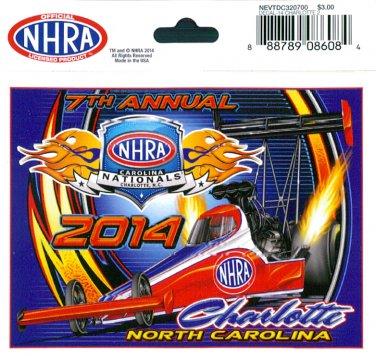 2014 NHRA Event Decal Charlotte