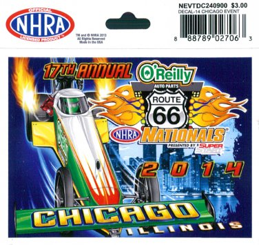 2014 NHRA Event Decal Chicago