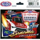 2016 NHRA Event Decal Sonoma