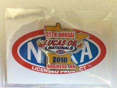 2016 NHRA Event Pin Brainerd