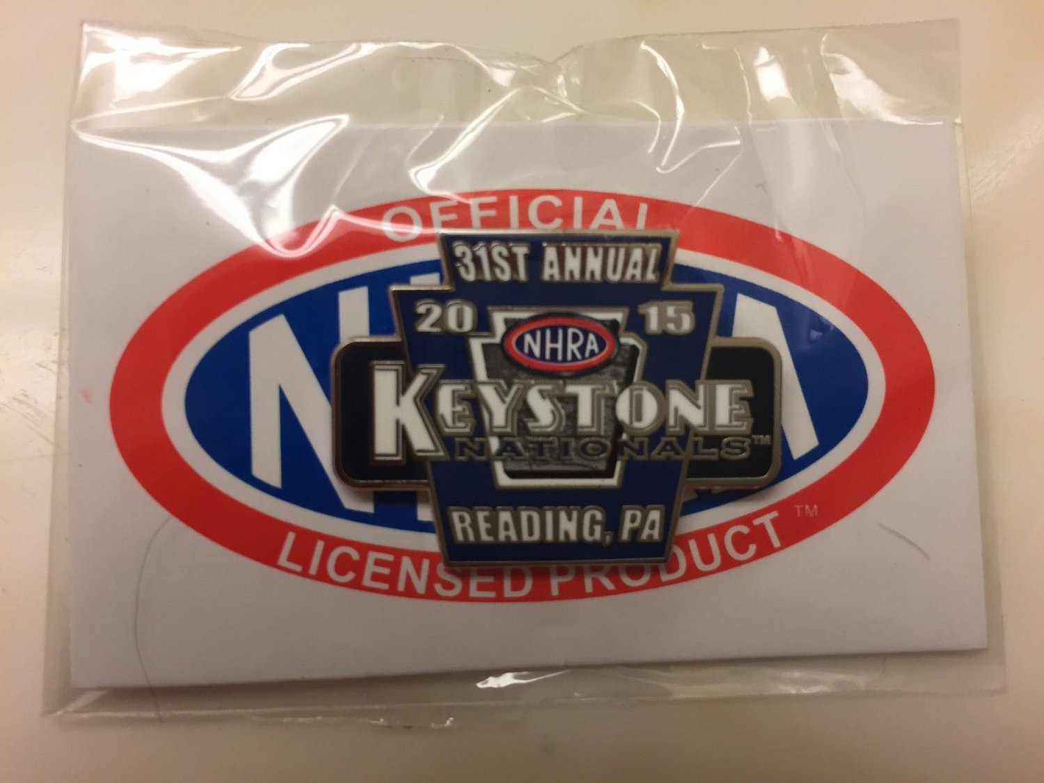2015 NHRA Event Pin Reading