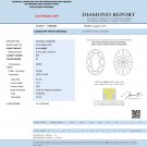 0.41 ct IGI Certified G SI1 Oval Cut Natural Loose Diamond New