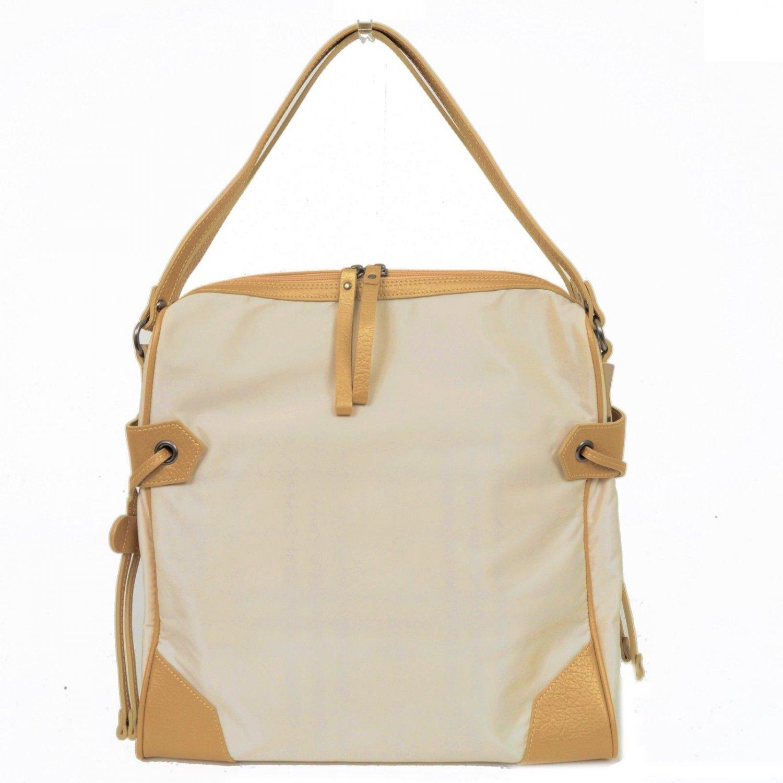 Authentic BURBERRY Beige x Camel Nylon Shoulder Bag